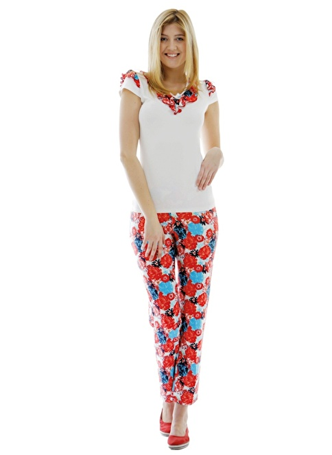 Peria Pijama Takım Kırmızı
